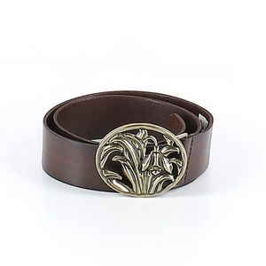 Accessories - Brown Leather Belt Vintage BoHo Festival Small
